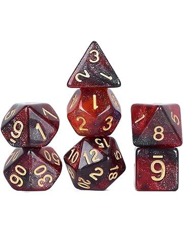 QKJZWJ Rpg Dadi Dadi per Dungeons e Dragons D /& D Pathfinder GDR Lega di Zinco poliedrica Dadi per Giochi Diversi