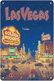 Pacifica Island Art Las Vegas, Nevada - Bonanza Air Lines - Vintage Airline Travel Poster by Kerne Erickson - 8in x 12in V...