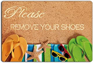 Please remove your shoes Printed Doormat , Non-slip Doormats, Size 30