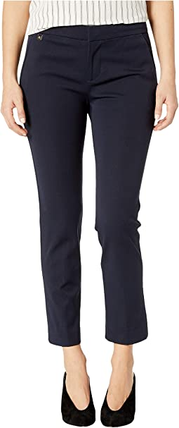 Petite Cotton Twill Skinny Pants