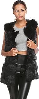 Women's Faux Fur Vest Winter Waistcoat Warm Sleeveless Coat Outerwear