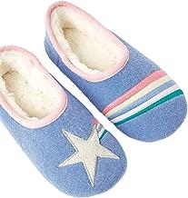 Joules Kids Girl's Slippet Felt Mule Slippers Light Blue Star Large