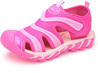 BTDREAM Boy's and Girl's Sports Sandals Breathable Closed-Toe Summer Outdoor Athletic Beach Shoes