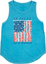 Southern Fried Cotton Stars and Shells Women's Tank Top-Ocean Mist-Large