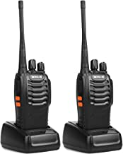 Retevis H-777 Two Way Radio UHF 16CH 2 Way Radio Single Band Flashlight Portable Walkie Talkies (1 Pair)- Black