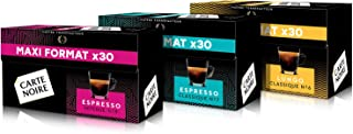 Carte Noire Café Espresso Assortiment Capsules Compatibles Nespresso - N°7 Classique - N°9 Intense - N°6 Lungo, 3 Paquets ...