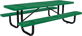 8' Rectangular Picnic Table, Surface Mount, Green (96