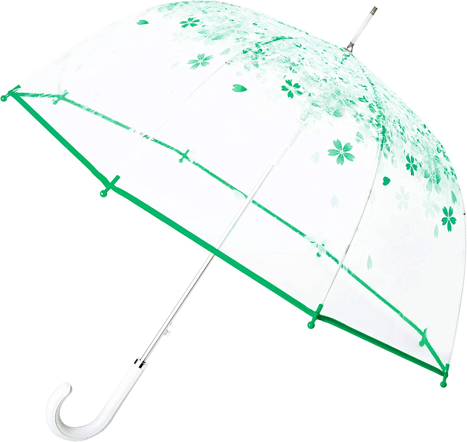 Kung Fu Smith Floral Bubble Dome Stick Umbrella Very Finally resale start popular Trans Girls for