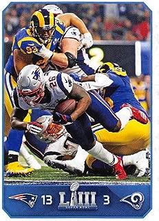 2019 Panini NFL Sticker #19 Sony Michel New England Patriots/Los Angeles Rams Super Bowl LIII (Small, Thin, Peelable Sticker Football Card)