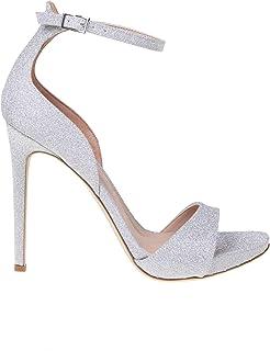 Luxury Fashion | Sergio Levantesi Women ZARASPSILVER Silver Leather Sandals | Spring-summer 20