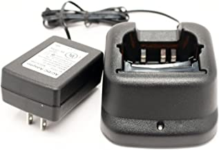 Icom BP-210 Two-Way Radio Charger Replacement (100-240V) - Compatible with Icom IC-A6 Charger, Icom IC-A24, Icom IC-V8, Icom IC-V82, Icom IC-A6, Icom IC-F21GM, Icom IC-F21, Icom IC-F11, Icom IC-U82, Icom BP-209, Icom IC-F31GS