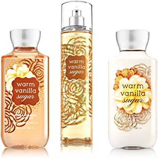 Bath & Body Works ~ Signature Collection ~ Warm Vanilla Sugar ~ Shower Gel ~ Fine Fragrance Mist & Body Lotion ~ Trio Gift...