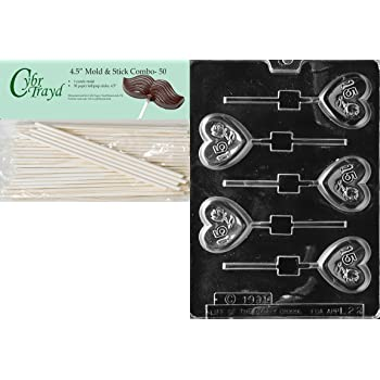 CK Products 2-Inch Number 15 Sucker Chocolate Mold 90-12120