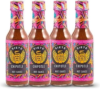 Siete Chipotle Hot Sauce, 4-Pack, 5oz Bottles