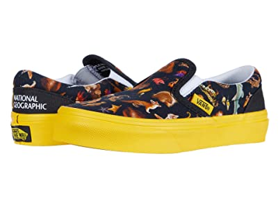 Vans Kids National Geographic Classic Slip-On (Little Kid/Big Kid) ((National Geographic) Photo Ark) Kids Shoes