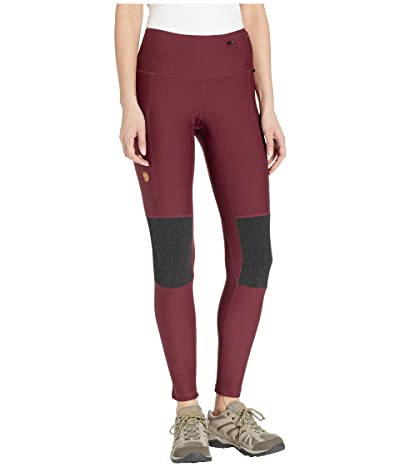 Fjallraven Abisko Trek Tights (Dark Garnet) Women