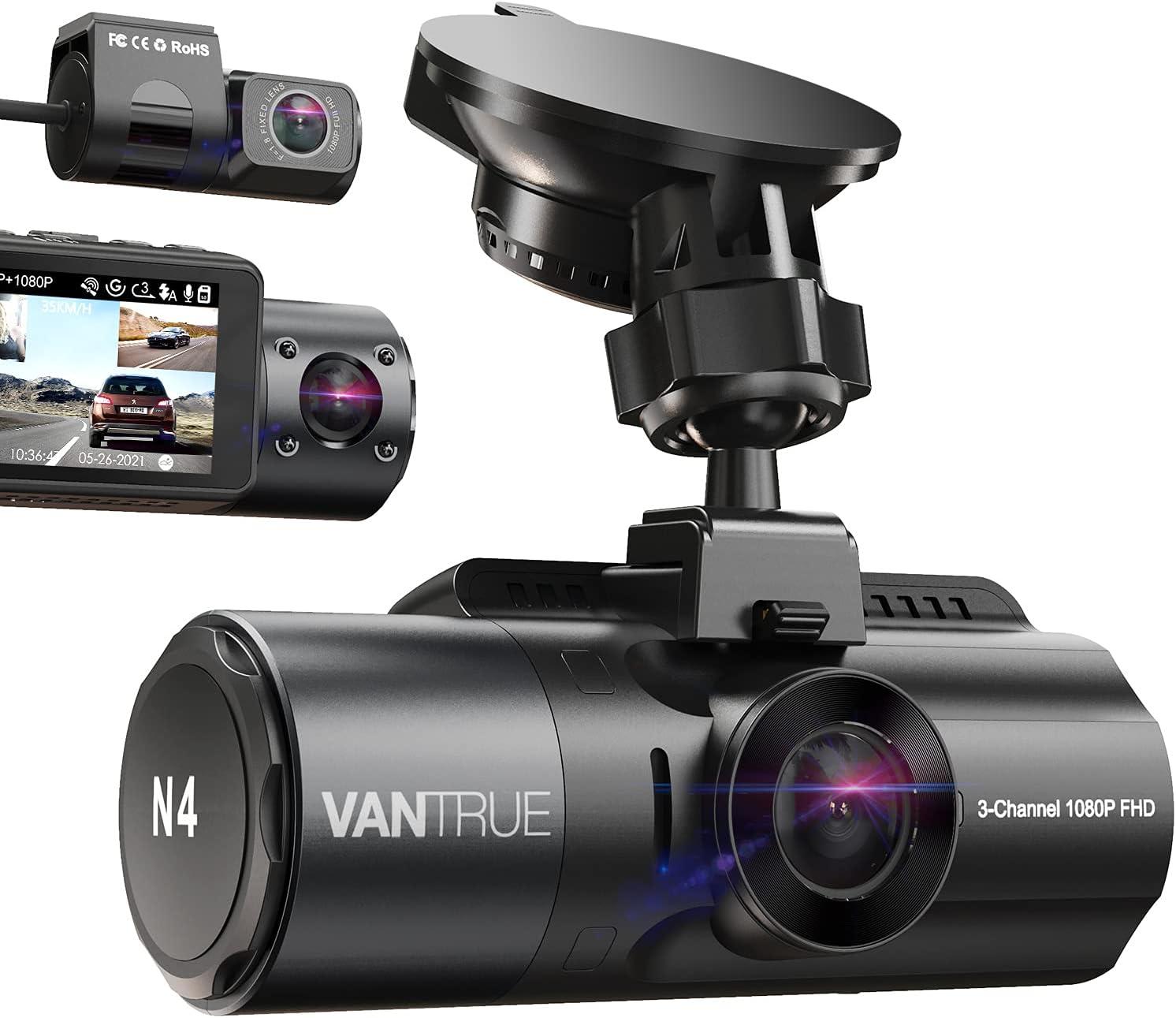 Vantrue 3 Channel 4K Dash Cam