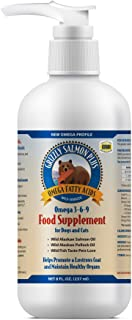 Grizzly Salmon Plus Omega Fatty Acids Food Supplement for Dogs & Cats, 8 Fl Oz – USA Made, Wild-Sourced Alaskan Salmon Oil...