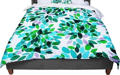 KESS InHouse Ebi Emporium Dahlia Dots 3 Pink Purple Twin Comforter 68 X 88