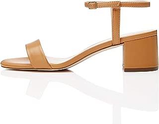 Amazon Brand - find. Women's Block Heel Mule Open-Toe Sandals with Strap