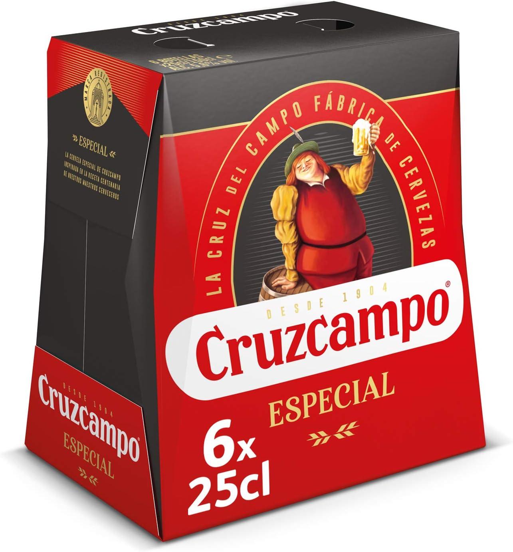 Cruzcampo Especial Cerveza - Pack de 6 Botellas x 250 ml (Total: 1.5 L): Amazon.es: Alimentación y bebidas