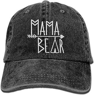 OASCUVER Mama Bear Denim Hat Adjustable Female Stretch Baseball Hats Red a871c31d50d3
