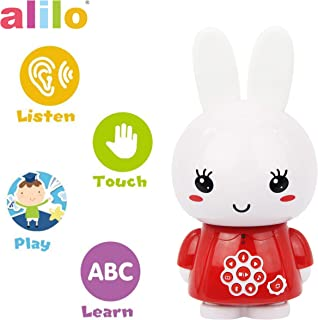 alilo Honey Bunny Story Teller Nursery Rhyme Lullaby Song Bedtime Story Fairy-Tale Interactive Children Brain Kids Early Development Learning Toy Training Bluetooth English Chinese Bilingual G6X Red
