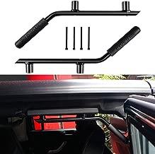 Heavy Duty Rear Grab bar Grab Handles Grip Handle For Jeep Wrangler JK JKU Sports Sahara Freedom Rubicon X & Unlimited 2007-2018 - Pair (Matte Black)