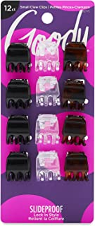Goody Mini Claw Hair Clips, Assorted Colors, 12-count, Pack of 6 (1942509)