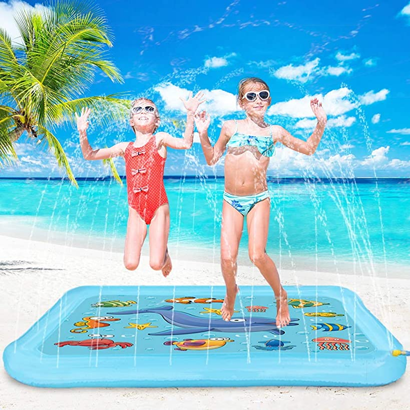 Blasland Splash Pad Sprinkle and Splash Play Mat,67