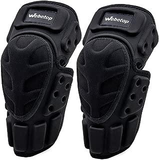 Webetop Motorcycle Knee Pads Adult 1 Pair High-Impact Shield-Resistance Flexible Breathable Adjustable Aramid Fiber +EVA Motocross MTB Shin Guards for Riding Cycling Skating