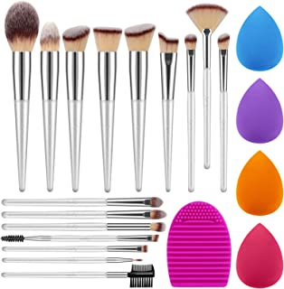 Syntus Makeup Brush Set, 16 Makeup Brushes & 4 Blender Sponges & 1 Brush Cleaner Premium Synthetic Foundation Powder Kabuk...