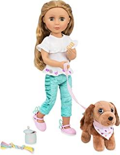 """Glitter Girls by Battat – GG Pet Play Set – Puppy Accessory Set for 14"""" Dolls - Toys, Clothes & Accessories for Girls 3-Ye..."""