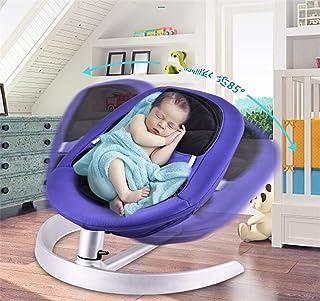 Baby Rocker, Baby Swing Chair Bouncer Infant Outdoor Livingroom Comfort Swing Soft Toddler Cradle Seat Ages 0-3 Purple