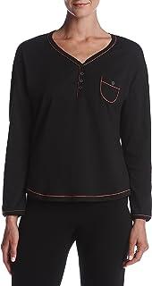قميص بيجامة نسائي بأكمام طويلة مطبوع عليه Karen Neuburger Pj