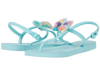 Havaianas Kids Freedom SL Pom-Pom Flip-Flop (Toddler/Little Kid/Big Kid) (Ice Blue) Girls Shoes