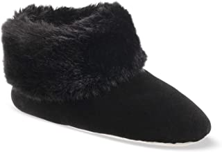 Women's Stretch Velour and faux fur Sabrine Bootie House Slipper