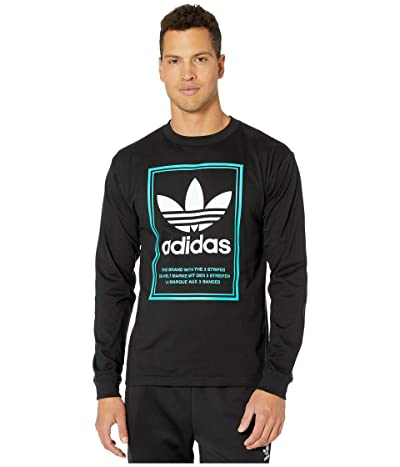 adidas Originals Tongue Label Long Sleeve Tee (Black) Men