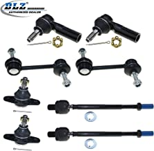DLZ 8 Pcs Suspension Kit-2 Front Lower Ball Joint 2 Front Inner 2 Outer Tie Rod Ends 2 Rear Sway Bar Links Compatible with 1987 1988 1989 1990 1991 Toyota Camry 1990 1991 Lexus ES250 K9352 EV261 K9545