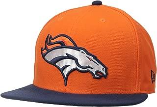 NFL Mens Denver Broncos On Field 5950 Orange Game Cap By New Era