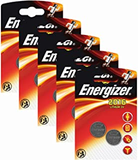 Energizer CR 2016 lithiumbatterij (3 volt, 5 x 2 stuks)
