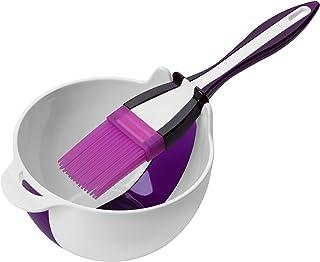 Premier Housewares 805296 Basting Brush and Bowl Set - Purple, H8.50 x W12 x D12.50cm