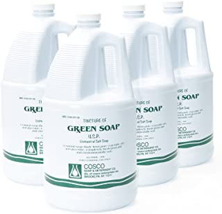 COSCO Tincture of Green Soap U.S.P. Medical Tattoo Cleanser -Four 1 Gallon Jugs