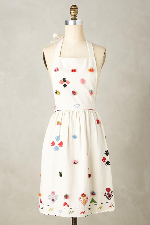Tufted & Textured Apron | Anthropologie