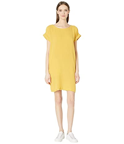 Eileen Fisher Ballet Neck Short Sleeve Short Dress (Marigold) Women