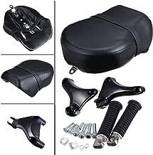 Iglobalbuy Rear Foot Peg Footpeg & Pillion Passenger Seat For Harley Sportster XL 883 883XL 883C 883N 2007-13