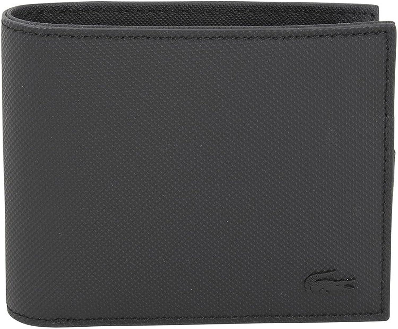 Lacoste Men's Billfold Coin Wallet, Black