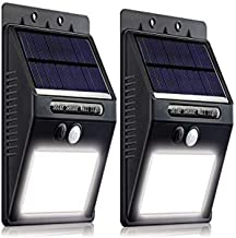 Miatec 13021 16 LED Wireless Waterproof Motion Sensor Outdoor Solar Lights with Motion Activated Auto On/Off (2 Pack)