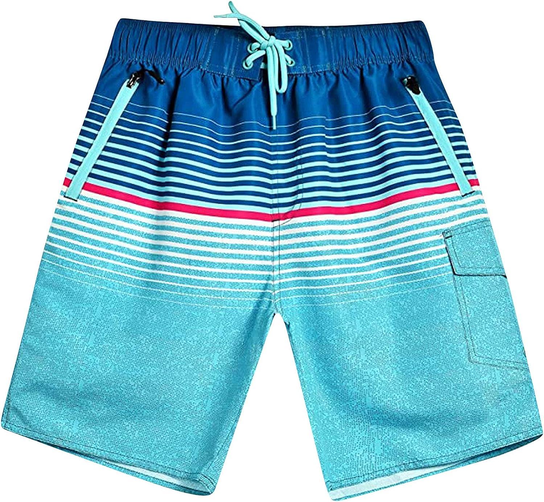 LEIYAN Mens Colorful Shorts Casual Elastic Waist Loose Fit Summer Hawaiian Aloha Capri Beach Hippie Yoga Shorts