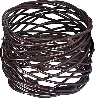 Light & Pro Mesh Napkin Rings for Weddings Dinner Parties, Perfect for Wedding Receptions, Kitchen, Dining Room, Family Gatherings or Everyday Use- Set Your Table with Style - Set of 12 - Bronze